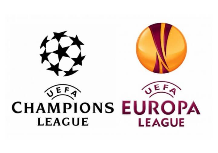 champions league and europa league logo