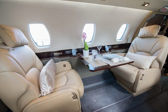 Cessna Citation aircraft interior