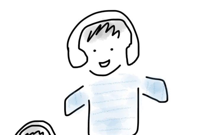 Children and planes illustration