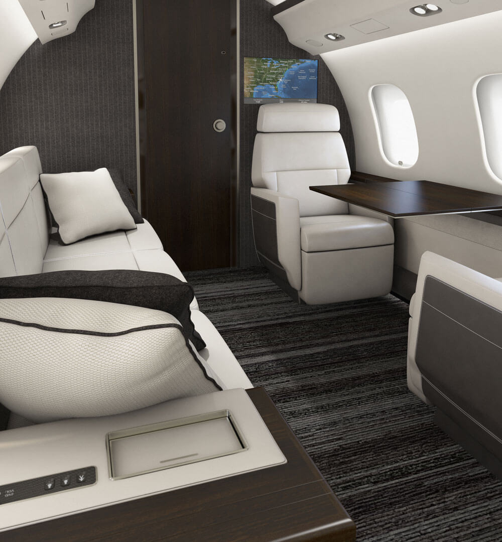 Jet Charter interior