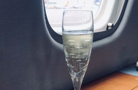 Champagne on Private jet
