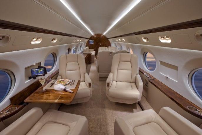 Gulfstream IV cabin interior