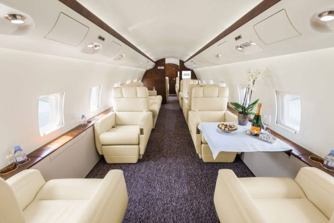 Private Jet interior layout