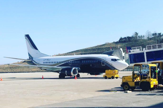 Klas jet on the runway
