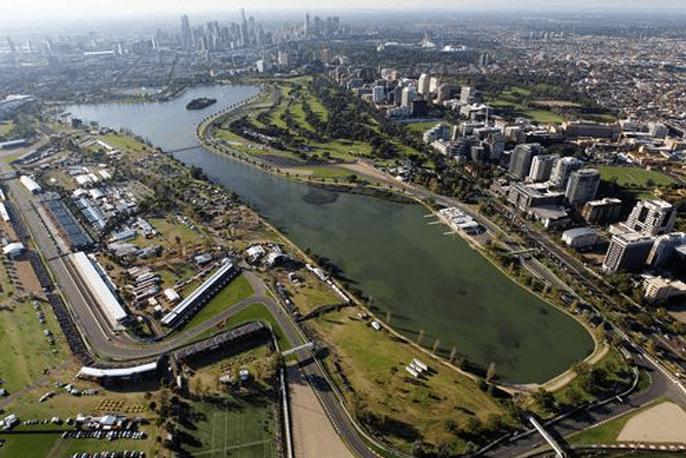 F1 track in Melbourne