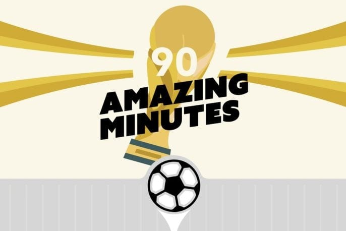 90 Amazing world cup minutes
