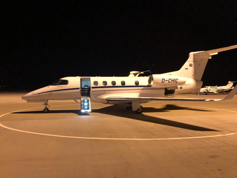 Phenom private jet